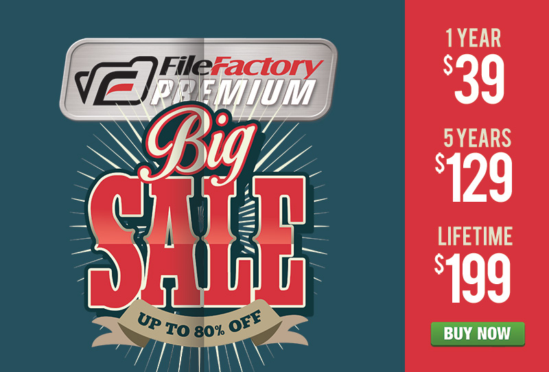 FileFactory Big Sale 2016 Promo